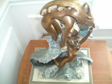 Dancing With Waves Bronze Sculpture Sculpture - Angelo Basso