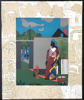 Pepper Jelly Lady  PP 1980 Limited Edition Print - Romare Bearden