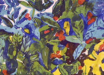 Tropical Flowers 1971 Limited Edition Print - Romare Bearden