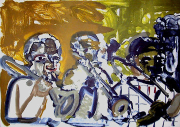 Brass Section (From the Jazz Series) 1979 Limited Edition Print - Romare Bearden