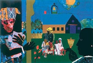 School Bell Time 1994 Limited Edition Print - Romare Bearden