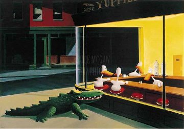 Window Shopping 1970 Limited Edition Print - Michael Bedard