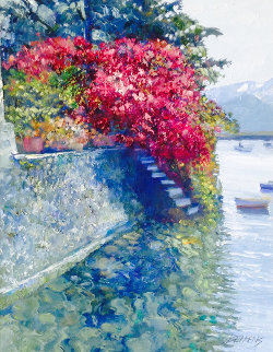 Lakeside Landing 2009 33x39 Original Painting - Howard Behrens