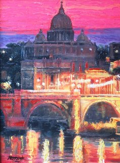 Sunset Over St. Peters 2010 Embellished Limited Edition Print - Howard Behrens