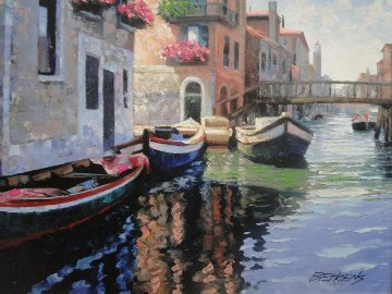 Magic of Venice II Embellished Limited Edition Print - Howard Behrens