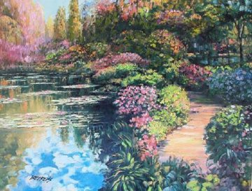 Giverny Path Embellished 2010 Limited Edition Print - Howard Behrens