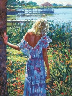 My Beloved by the Lake 2010 Embellished  Limited Edition Print - Howard Behrens