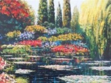 Shimmering Waters of Giverny Embellished 2010 Limited Edition Print - Howard Behrens