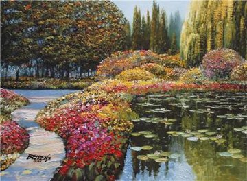 Colors of Giverny Embellished 2010 Limited Edition Print - Howard Behrens