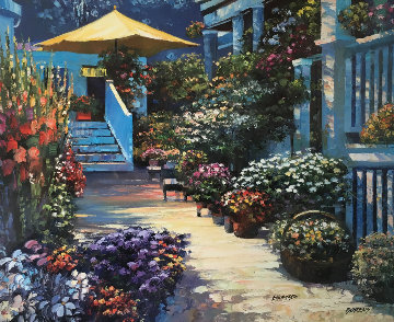 Nantucket Flower Market 2003 Limited Edition Print - Howard Behrens