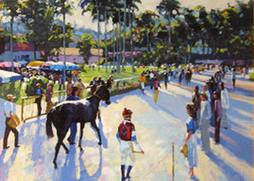 A Day At the Races 1991 Embellished Limited Edition Print - Howard Behrens