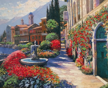 Along Lake Como #2 2007 Embellished Limited Edition Print - Howard Behrens