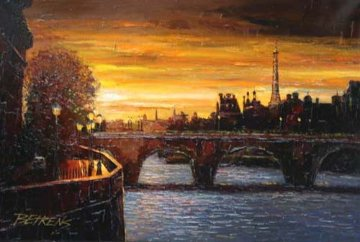 Twilight on the Seine II 2010 Embellished Limited Edition Print - Howard Behrens