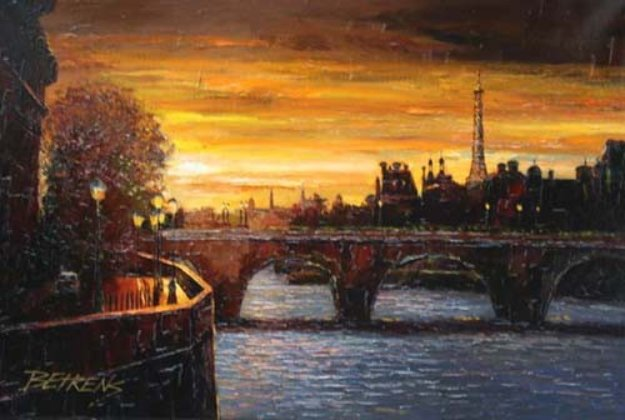 Twilight on the Seine II 2010 Embellished