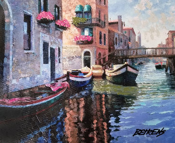 Magic of Venice II AP  Embellished Limited Edition Print - Howard Behrens