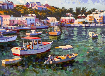 Bermuda 1991 Embellished  Limited Edition Print - Howard Behrens