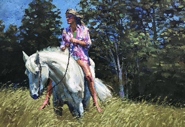 Dee Dee 1981 39x55 Original Painting - Howard Behrens