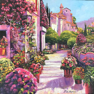 Burgundy Deja Vu 30 x 30 Original Painting - Howard Behrens