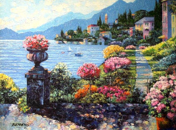 Varenna Morning AP Embellished Limited Edition Print - Howard Behrens