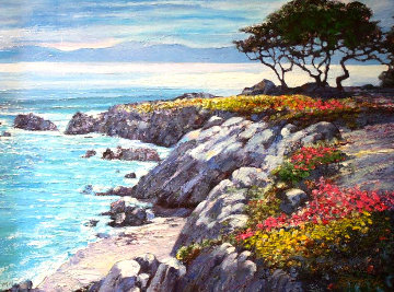 Monterey Bay After the Rain Embellished Limited Edition Print - Howard Behrens