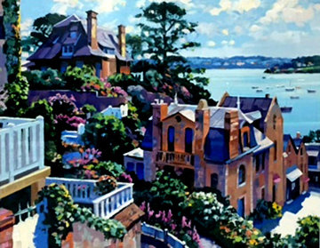 Dinard 1992 Heavily Artist Embellished Limited Edition Print - Howard Behrens