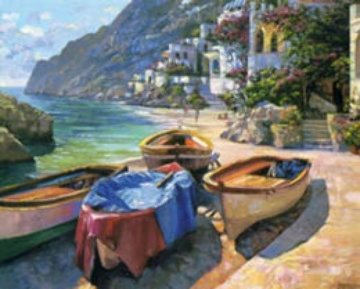 Capri Boats, France Limited Edition Print - Howard Behrens