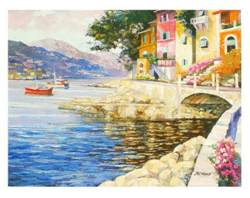Antibes Remembered (France) 2007 Embellished Limited Edition Print - Howard Behrens