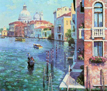 Grand Canal,Venice , Italy 1991 Limited Edition Print - Howard Behrens