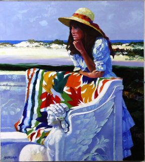 Marble Bench 40x36 Original Painting - Howard Behrens
