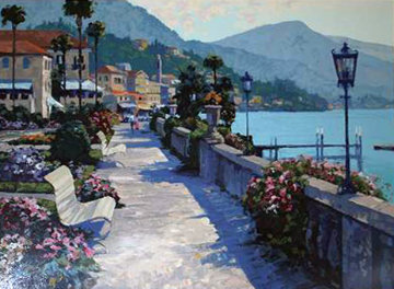 Bellagio Promenade, Italy 1990 Limited Edition Print - Howard Behrens