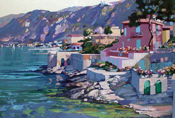 Riviera 1987 Embellished Limited Edition Print - Howard Behrens