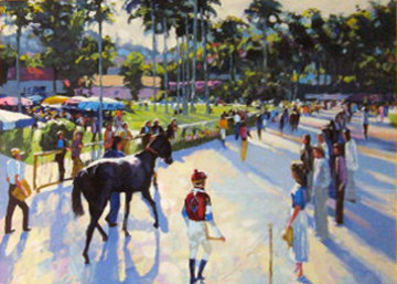 Day At the Races 1991 Limited Edition Print - Howard Behrens