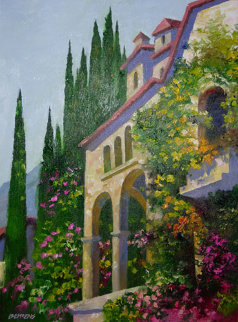 Villa in Venice ( Italy) 30x24 Original Painting - Howard Behrens