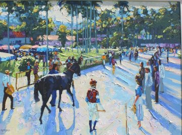 Day At the Races Embellished 1991 Limited Edition Print by Howard Behrens