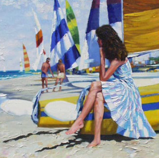 Before Sailing 44x44 Original Painting - Howard Behrens