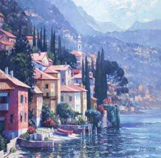 Impressions of Lake Como 2010, Italy Embellished Limited Edition Print - Howard Behrens
