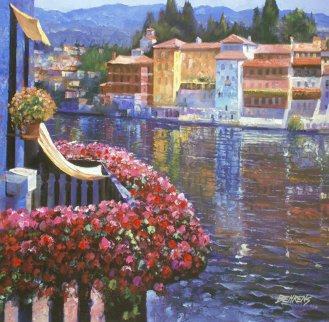 Lakeside Balcony 2011  Embellished Limited Edition Print - Howard Behrens