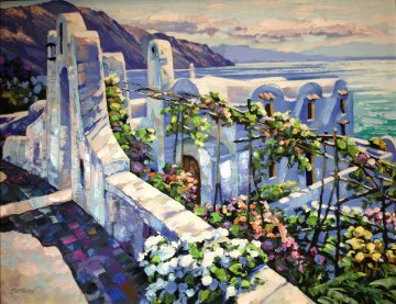 Rhodes, Greece Embellished Limited Edition Print - Howard Behrens