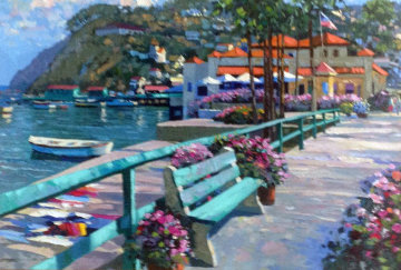Catalina Promenade 1995 Embellished Limited Edition Print - Howard Behrens