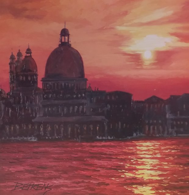 Perfect Sunset At  Grand Canal 2010 38x38