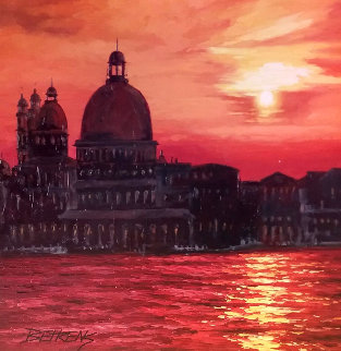 Perfect Sunset At  Grand Canal 2010 38x38 Original Painting - Howard Behrens