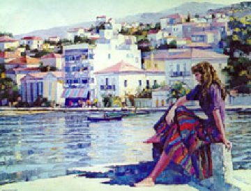 Grecian Harbor Limited Edition Print - Howard Behrens