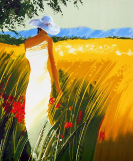 Campagne, France Embellished Limited Edition Print - Emile Bellet
