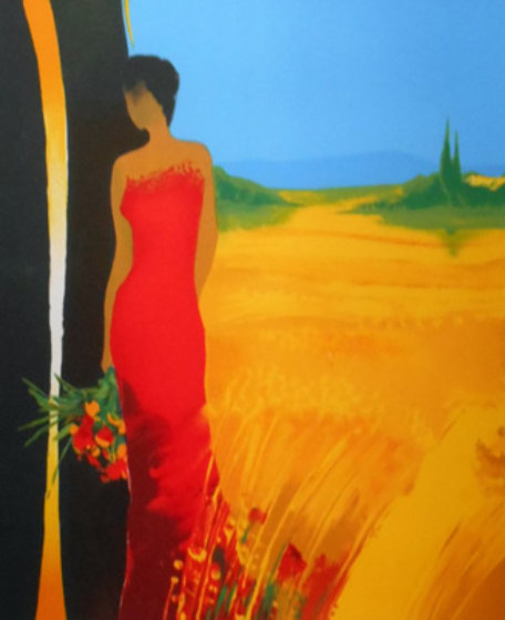 Untitled (Lady in Red Dress) 2000 Embellished