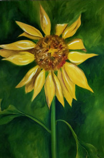 Sunshine Sunflower 2001 43x33 Original Painting - Olivia Bennett