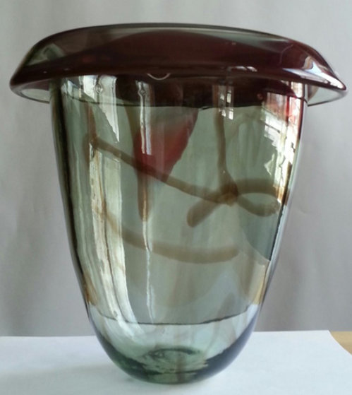 Untitled Early Glass Vase Sculpture 1978