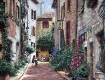 Bella Villagio 2002 50x41 Original Painting - Stephen Bergstrom
