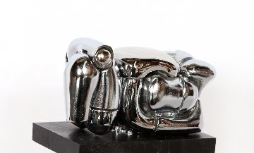 Mini Maria Nickel Plated Sculpture 1969 Sculpture - Miguel Ortiz Berrocal