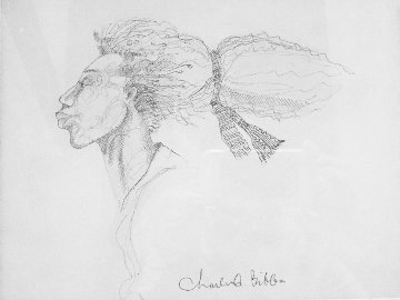 Windface Study Drawing 1999 14x17 Drawing - Charles Bibbs