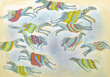 A Dream of Flying Ponies 1978 Limited Edition Print - Earl Biss